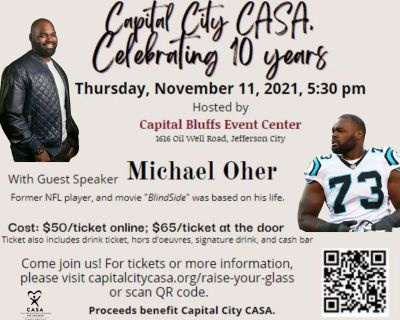 Raise your Glass for Capital City CASA, with Guest Speaker Michael Oher