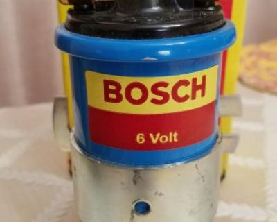NOS Genuine Bosch Germany 6V Blue Ignition Coil