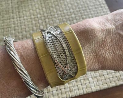 Mexican Leather Handcrafted Cuff Bracelet
