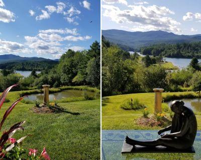 "2 bdrm Spacious Apt 7 Acres Ski Canoe Golf Swim HIke Fish Snowshoe ""Lake View"" - Waterbury Center"