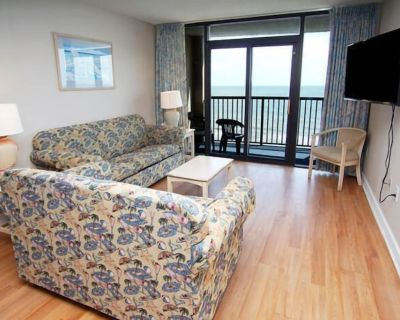 Compass Cove Mariner Tower 1020, Spacious 3 BR Ocean Front Condo with I/O Pools, Hot Tub, Lazy River and Kiddie Pool - Myrtle Beach
