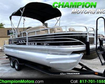 Used 2021 Sun Tracker Fishing Barge 20 DLX Fishin Pontoon Boat w/Mercury 90HP CT 4S