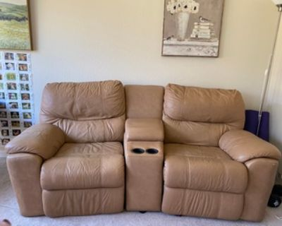 FREE Leather Reclining Couch - Free