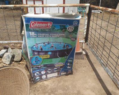 Coleman power steel 18x48 swimimg pool