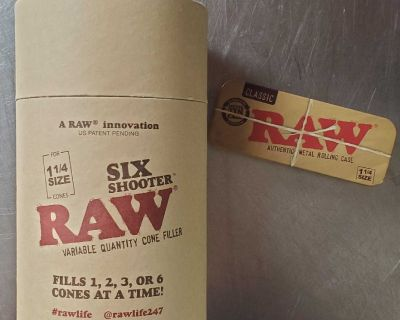 New Raw Six Shooter fills 1-6 Cones & Pocket Storage Container