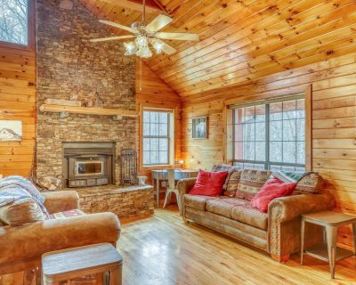 Bright dog-friendly cabin w/ valley views, private gas grill, and firepit! - Blue Ridge