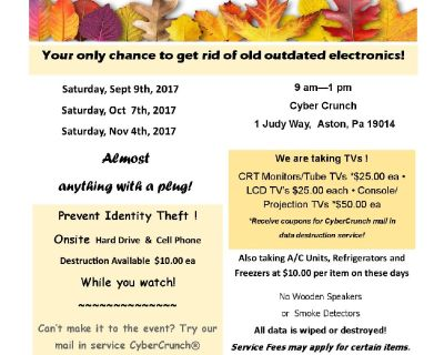 Get rid of your unwanted TVs and Electronics