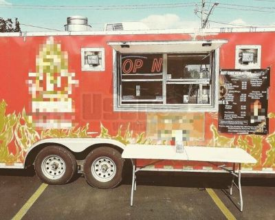 Used Mobile Kitchen Food Concession Trailer with Pro Fire Suppression System