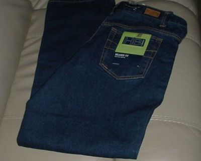 New With Tags Women's HB Company 16 Average Relaxed Fit Denim Jeans. Feature Natural Waist With Belt Loops, Button Closure, Zip Fly...