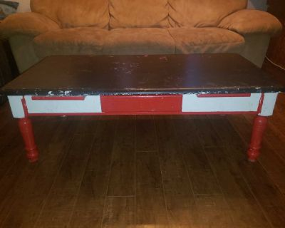 Coffee table and end tables. Solid wood