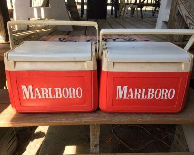 Two Marlboro coolers