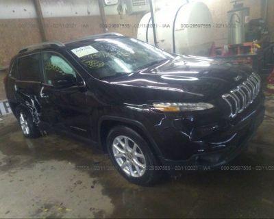 Salvage Black 2017 Jeep Cherokee