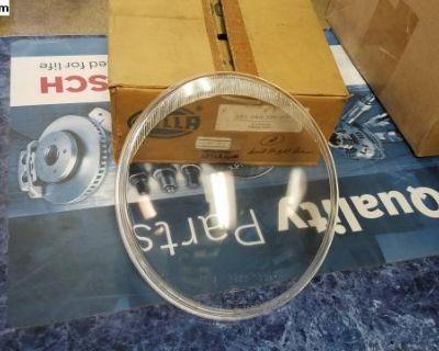 NOS German HELLA Headlight Glass Lens Stock Clear