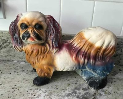 Vintage chalk ware dog