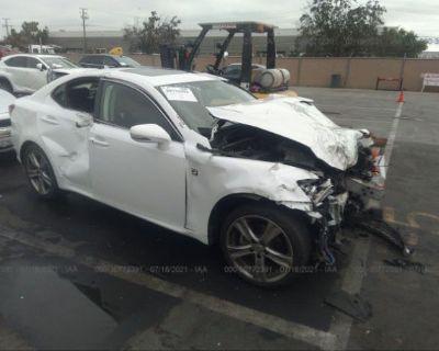 Salvage White 2012 Lexus Is 250
