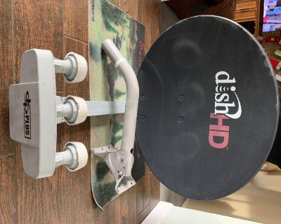 Satellite dish, mounting bracket, 2 digital receivers, 2 IR remotes