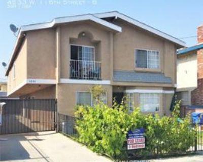 4533 W 116th St #B, Hawthorne, CA 90250 3 Bedroom Apartment