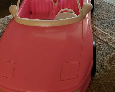 1996 4 Seats Pink Convertible Car for Barbie Dolls