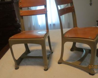 NEW PR. of Metal / Wood Child's Desk Chairs