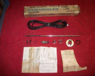 1966 67 Chevy Ii Nova Nos Rear Antenna Mast Kit In Original Gm Box 986682