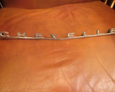 Trim Parts 66 Chevelle Ss Rear Panel Emblem Oem