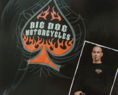 Big Dog Motorcycles M Spade Thermal Long Sleeve Shirt Front/back Design Bdm