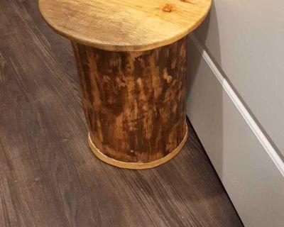 Tree Carved Storage Bin with Lid