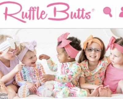ISO Ruffle Butts brand girls clothing size 6 months and up