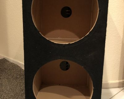 """Double 12"""" Subwoofer Box for your audio system (Cash and Carry in Oceanside)"""