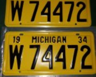1934 michigan license plates-lower price