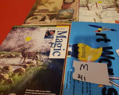 Painting assorted books lot m