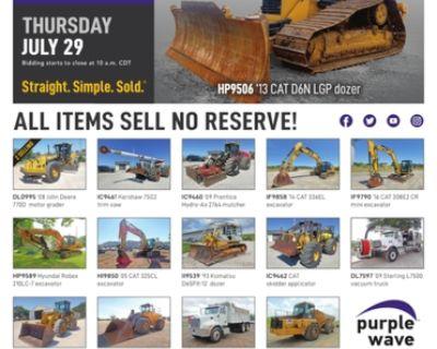 July 29 construction equipment auction