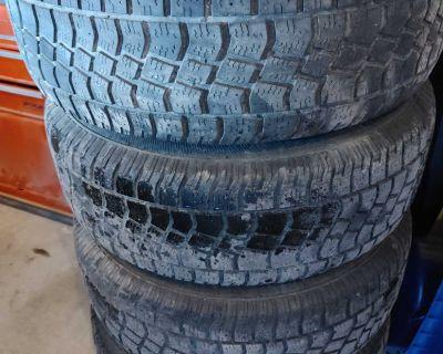 245/70R16 winter tires on Trailblazer wheels