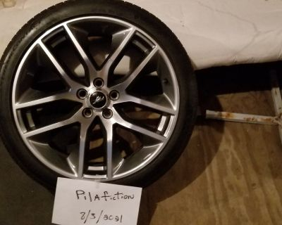 """Set of 4 20""""x9(GT premium) Foundry machined Allu w/ 265/35r20 extreme contact dws06, all season, tires wheels have about 1k and wheels like new...$950"""