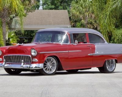 1955 Chevrolet Bel Air All-Steel Coupe Restored Sedan Small Block V8 Two-tone Tri-Five Engine Swap