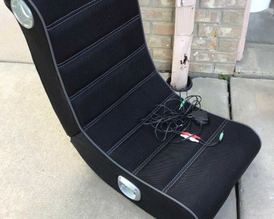 XRocker Play Wired Floor rocking Gaming Chair - Foldable. With Speakers