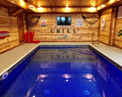 Private in-Cabin Heated Pool-Game Rm-Theater- King Beds-Views-Sleeps 32-EV1 - Pigeon Forge