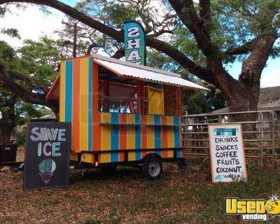 Registered 2021 4' x 8' Lightly Used Shaved Ice and Coffee Concession Trailer