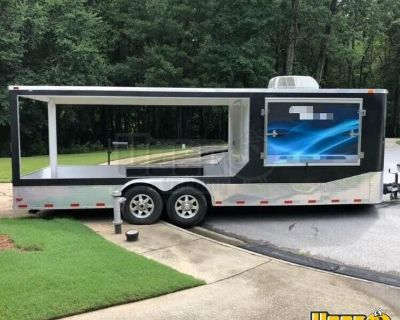 2012 - 8.5' x 27' Food Trailer with Porch with 2021 Kitchen Build-Out