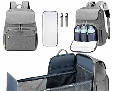 Diaper Bag back pack with bassinet - new in package