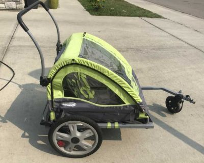 In step double stroller and bike trailer
