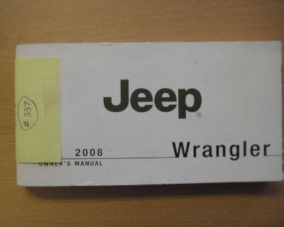 2008 Jeep Wrangler Owners Manual Books Factory Stock Oem