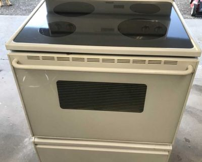 Free White Maytag Glass Top Stove