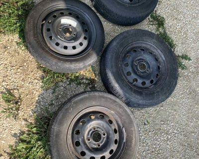 Used tires and new donut 4x108