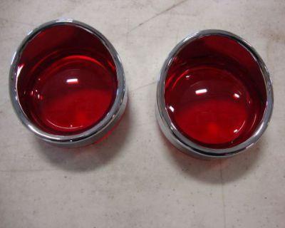 Big Dog Turn Signal Red Lens Pair Visor W/ Side Marker Front Or Rear K-9