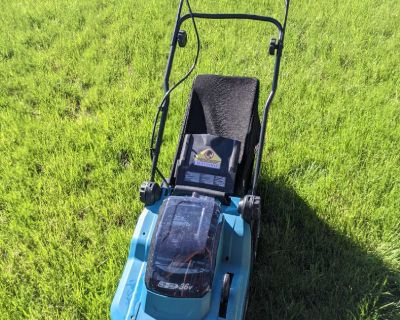 Battery powered lawn mower for rent