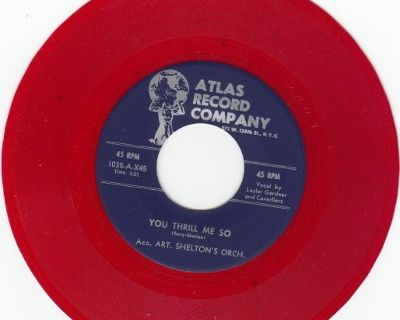 CAVERLIERS ~ You Thrill Me So*Mint-45*RARE RED WAX !