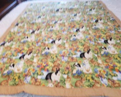 Bunny Rabbits crib quilt