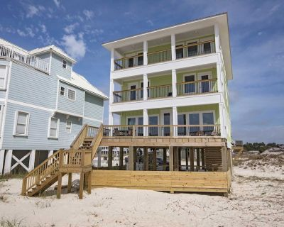Gulf Front 7 Bedroom ~ Private Pool ~ Sleeps 22 ~ Above the Dunes Beach House - Fort Morgan