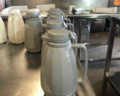 Large Thermal Insulated Coffee Tea Beverage Server Carafe Jug - Swirl